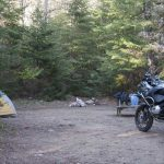 Camping in Mont-Tremblant in 2008