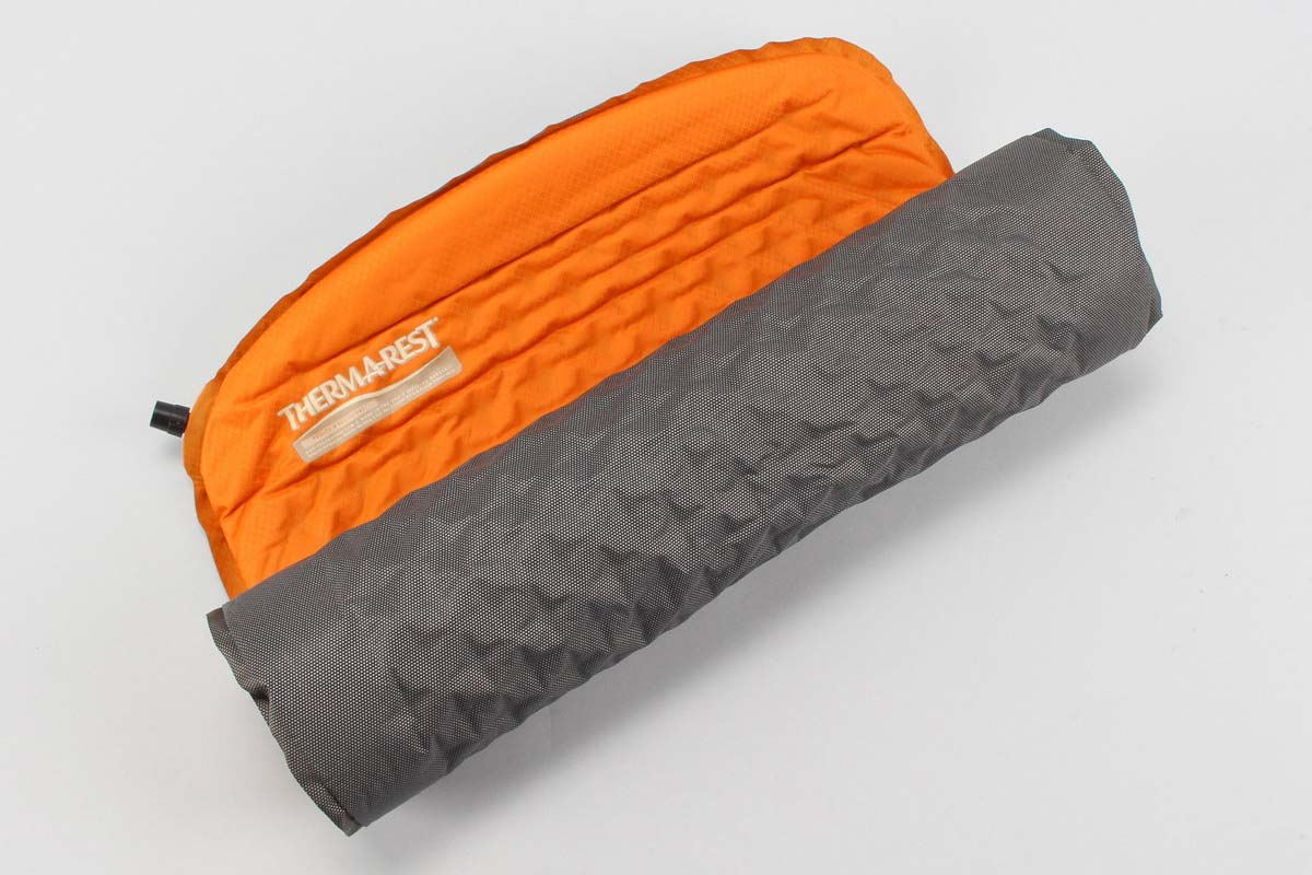 Folded 3/4 sleeping pad from Thermarest